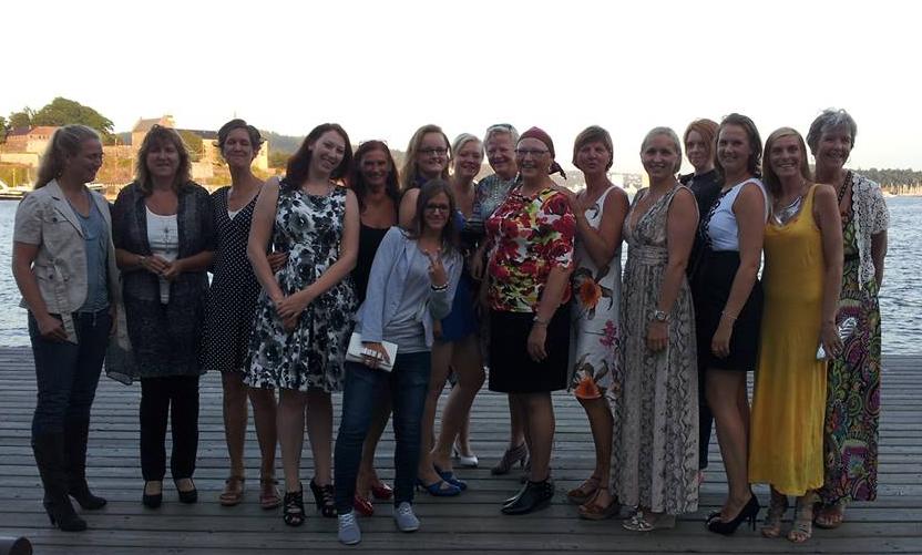 Middagstreff på Aker brygge, sommer 2013